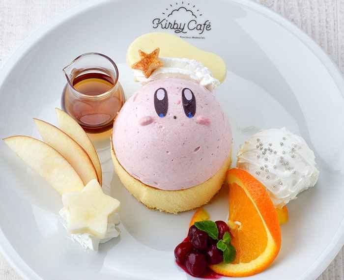 Kirby's Fluffy Pancakes (1,480 yen) - Kirby Cafe - Tokyo, Japan