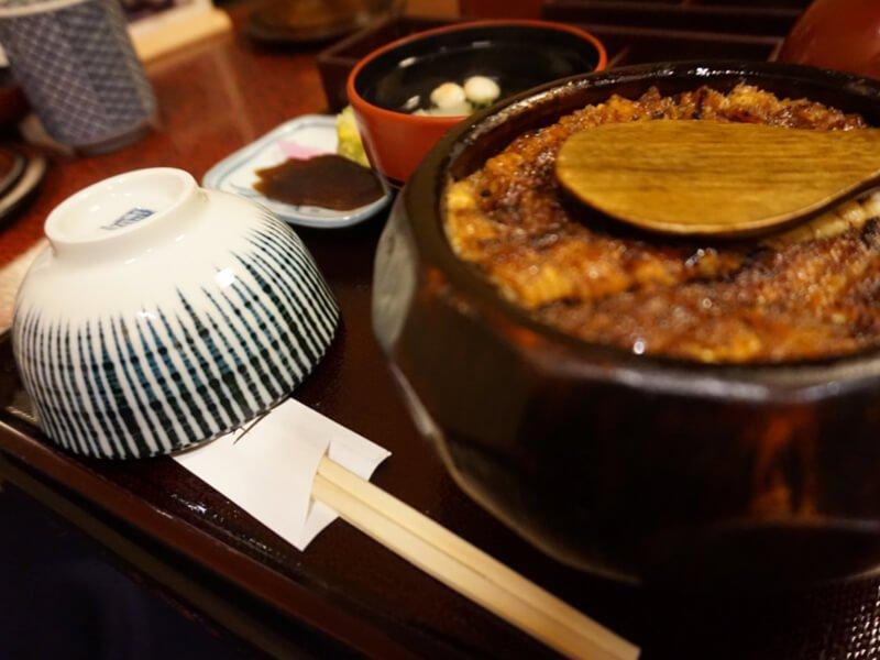 Hitsumabushi eel dish