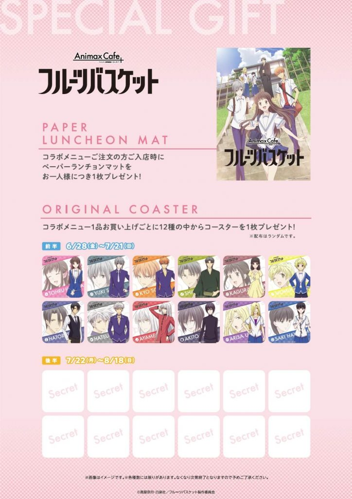 Fruits Basket Cafe goodies
