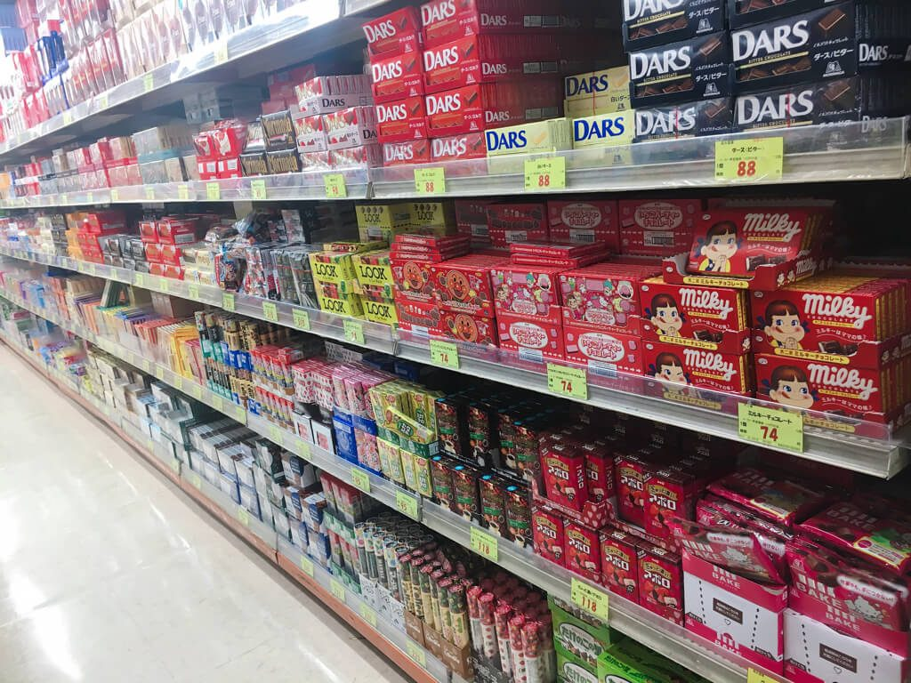 Aisles full of chocolate