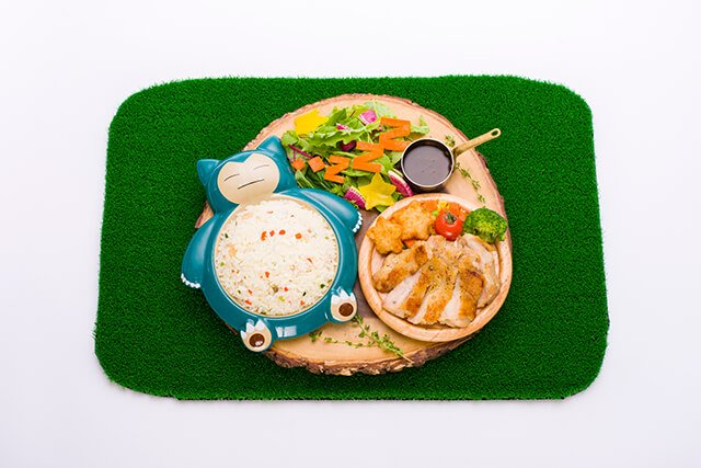 Snorlax's Full-Stomach Lunch Nap Plate (1,958 yen)
