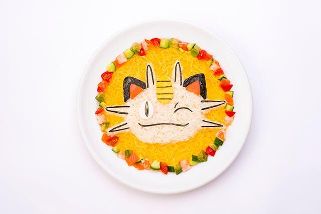 Winky Meowth's Shrimp and Avocado Chirashi Rice (1,738 yen)