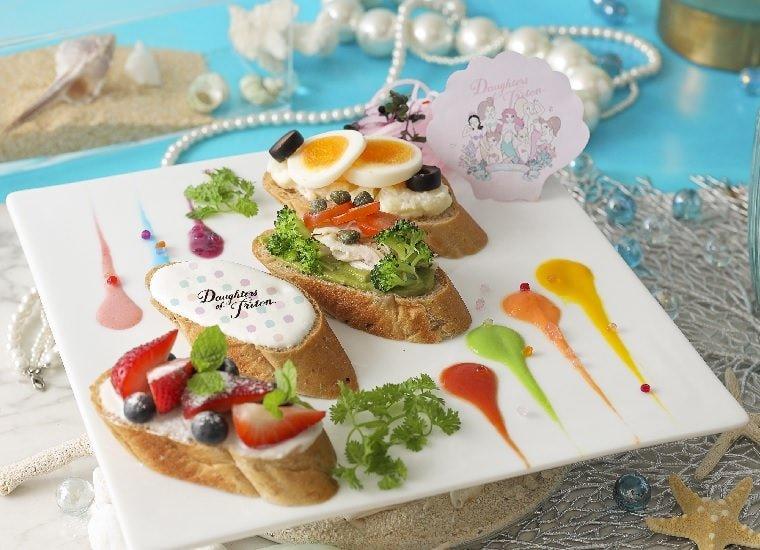 7 Sisters' Colorful Open Sandwich 2,290 yen (w/o tax)
