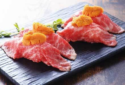 Sirloin Steak Sushi 1600 yen