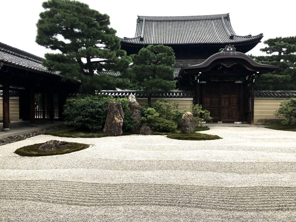 Kenninji's stone gardens