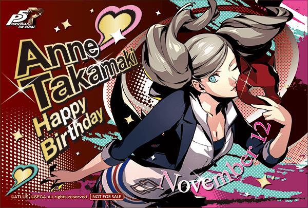 Ann Takamaki birthday card