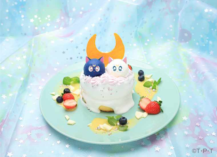 Luna & Artemis's Night Out Pancakes - Sailor Moon Cafe 2019 - Tokyo, Japan