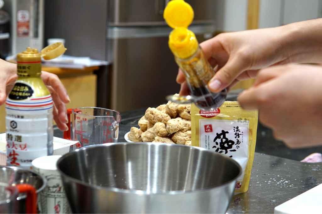 Adding sesame oil