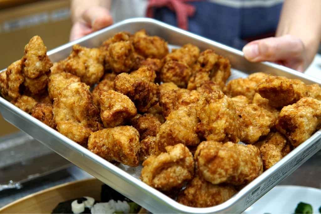 """Fried soy """"chicken"""" karaage"""