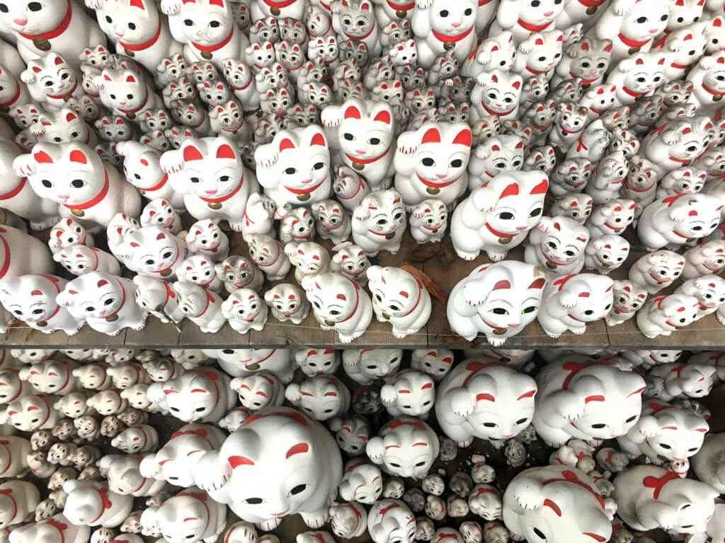 Gotokuji temple maneki-neko