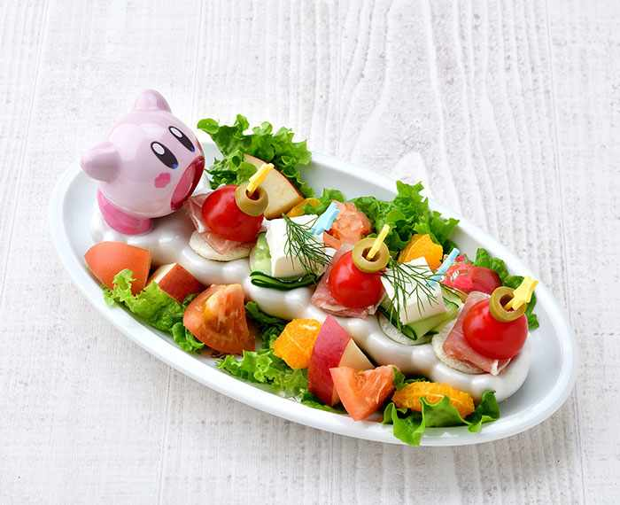 Kirby Swallowing Hors d'oeuvres (980 yen) - Kirby Cafe - Tokyo, Japan
