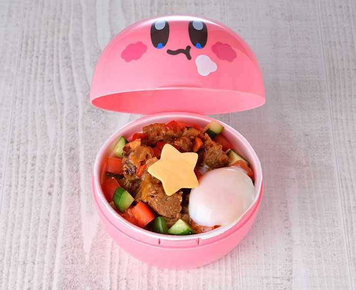 Kirby's Nom Nom Loco Moco Bowl (1,980 yen) - Kirby Cafe - Tokyo, Japan