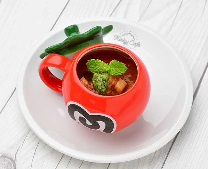 Maxim Tomato Mini Soup (480 yen) - Kirby Cafe - Tokyo, Japan