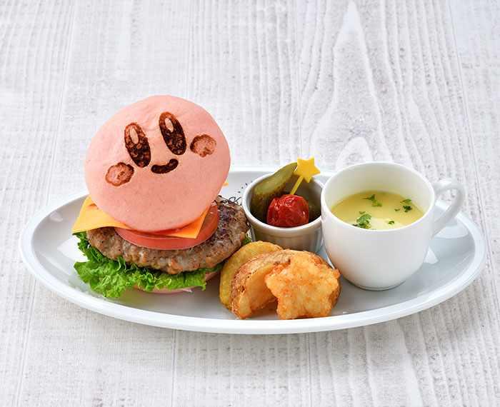 Kirby Burger & Fries (1,280 yen) - Kirby Cafe - Tokyo, Japan
