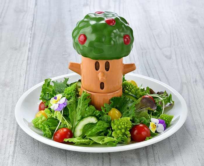 Wispy Woods Salad Plate (1,780 yen) - Kirby Cafe - Tokyo, Japan