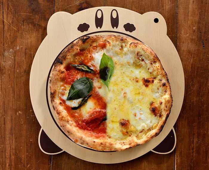 Kirby Cafe's Stone-Oven Pizza ~Half & Half~ (3,980 yen)