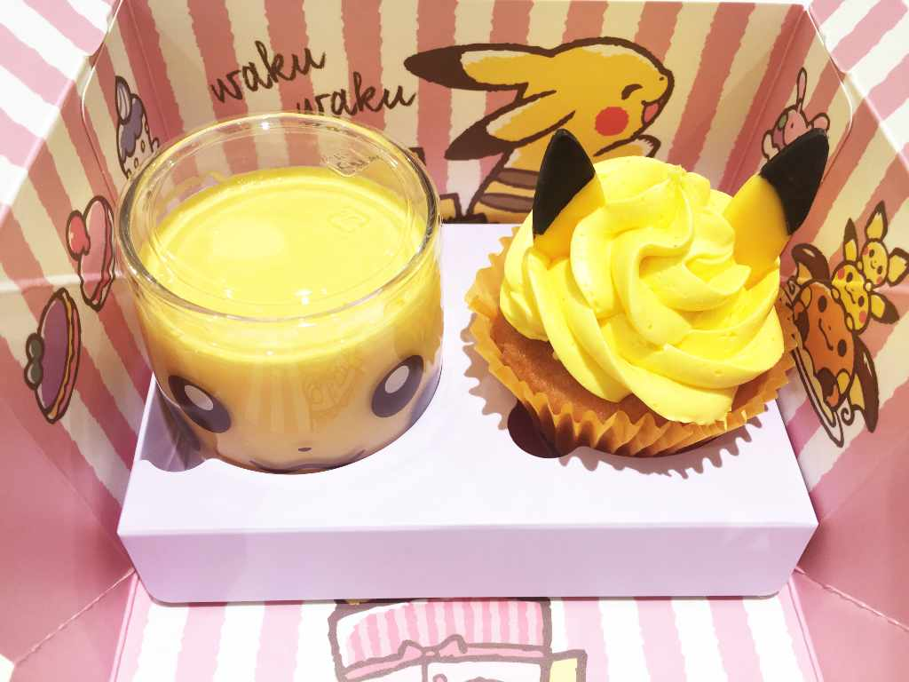 Pikachu cupcake & pudding set