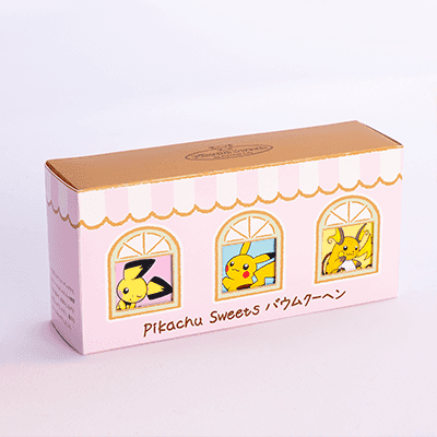 Pikachu Sweets Baumkuchen 3-Piece Set