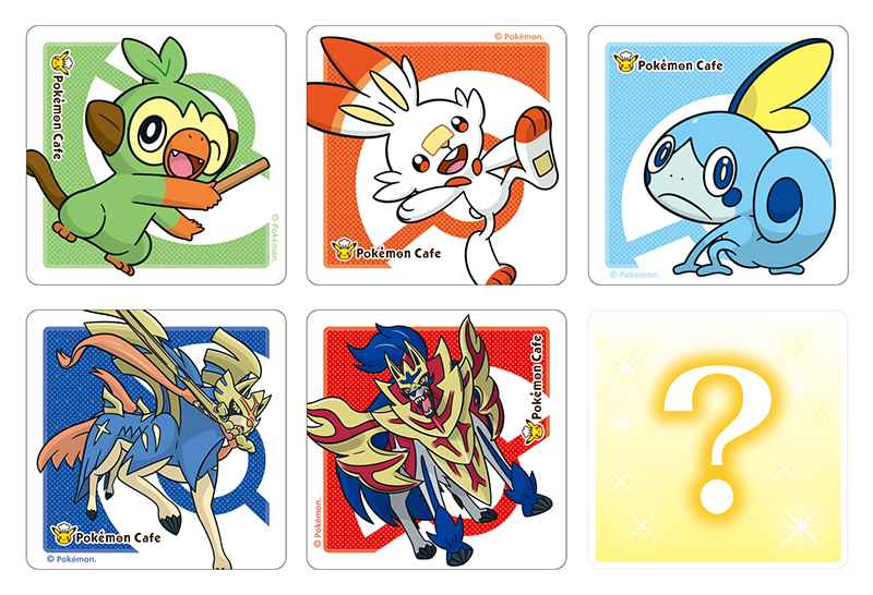 Pokemon Cafe Sword and Shield coaster designs