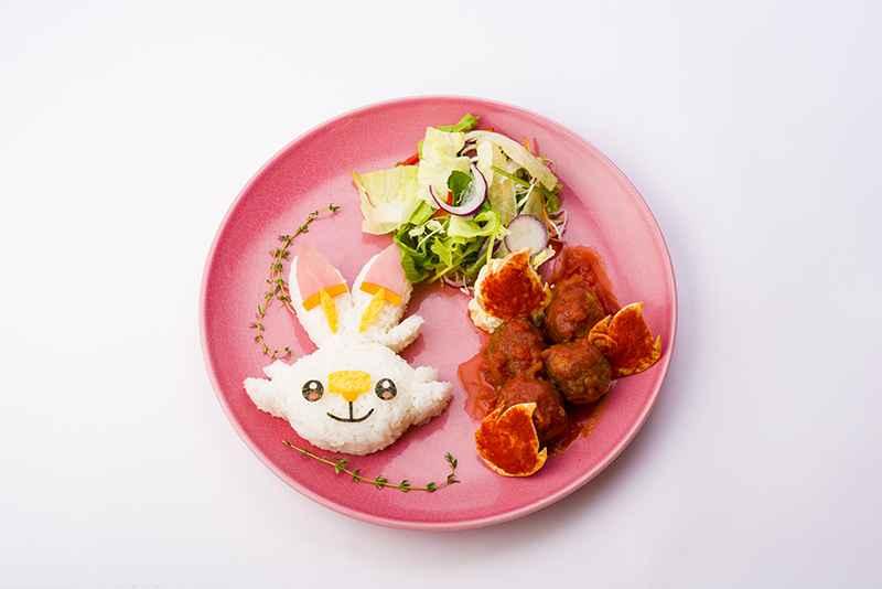 Scorbunny's Firey Energy Tomato Meatball Plate (1,848 yen)