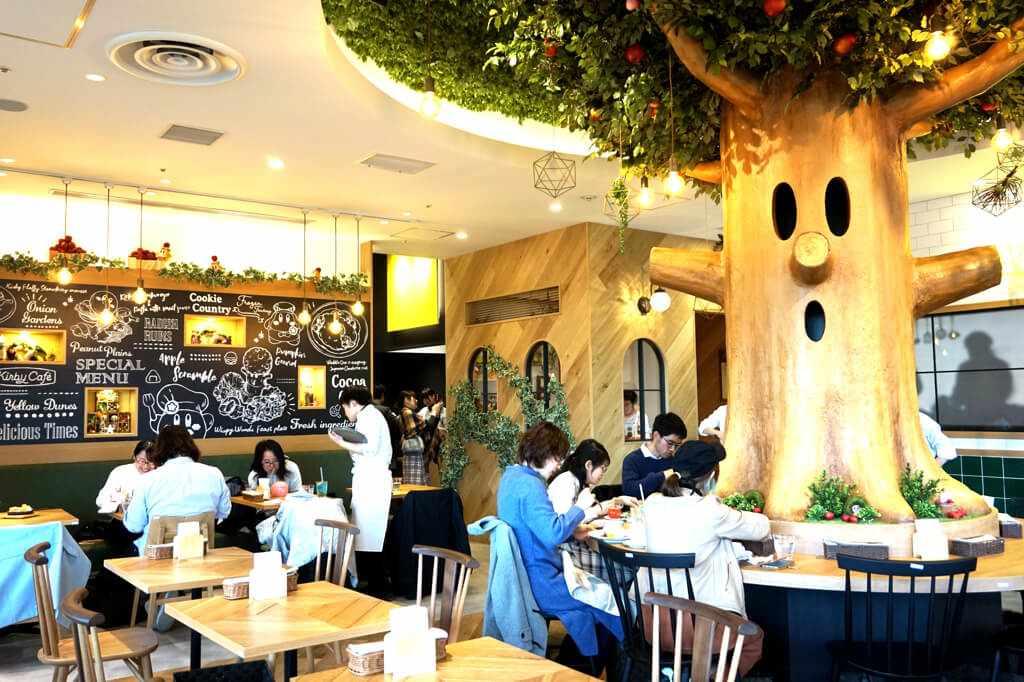 Kirby Cafe Tokyo interior