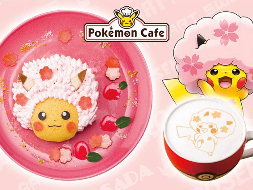 Sakura Afro Pikachu Special Menu at Pokemon Cafe Tokyo - Tokyo, Japan