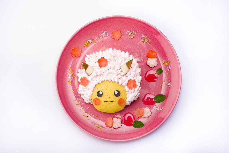 Sakura Afro Pikachu's Fruits Sandwich Cake (1,738 yen) - Pokemon Cafe - Tokyo, Japan