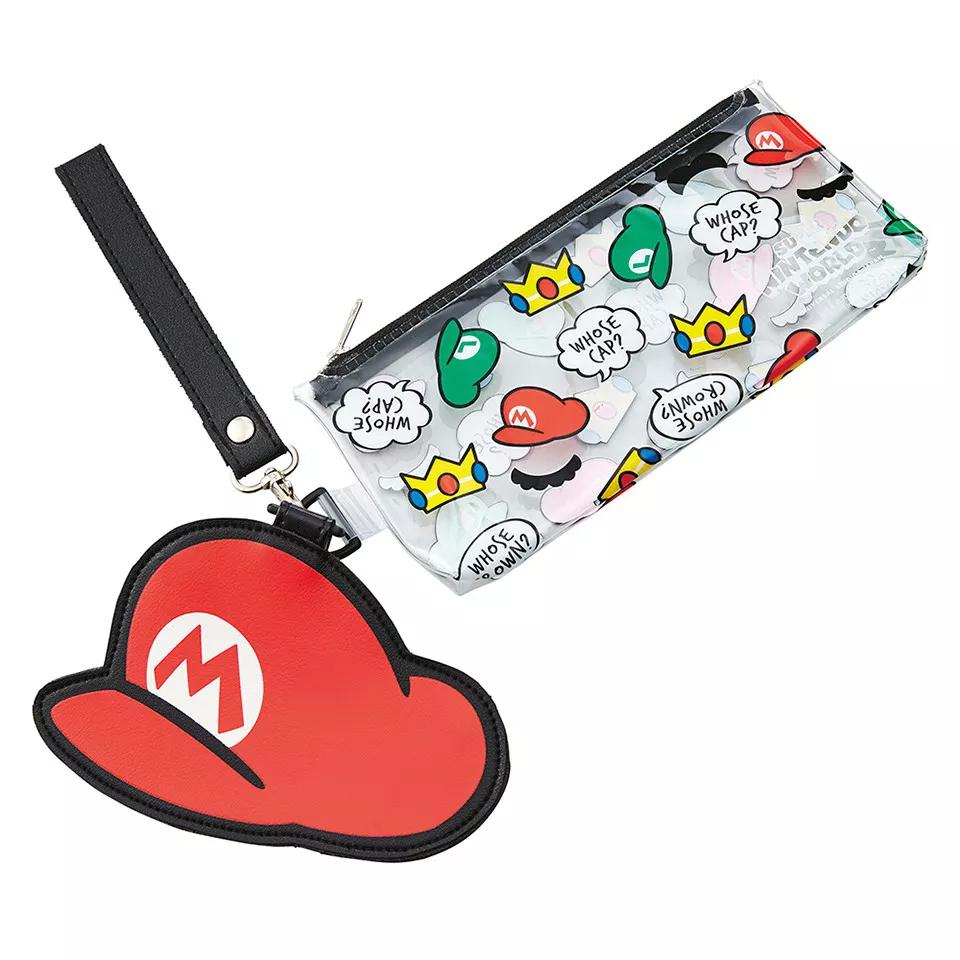 A Mario pencil case and pouch
