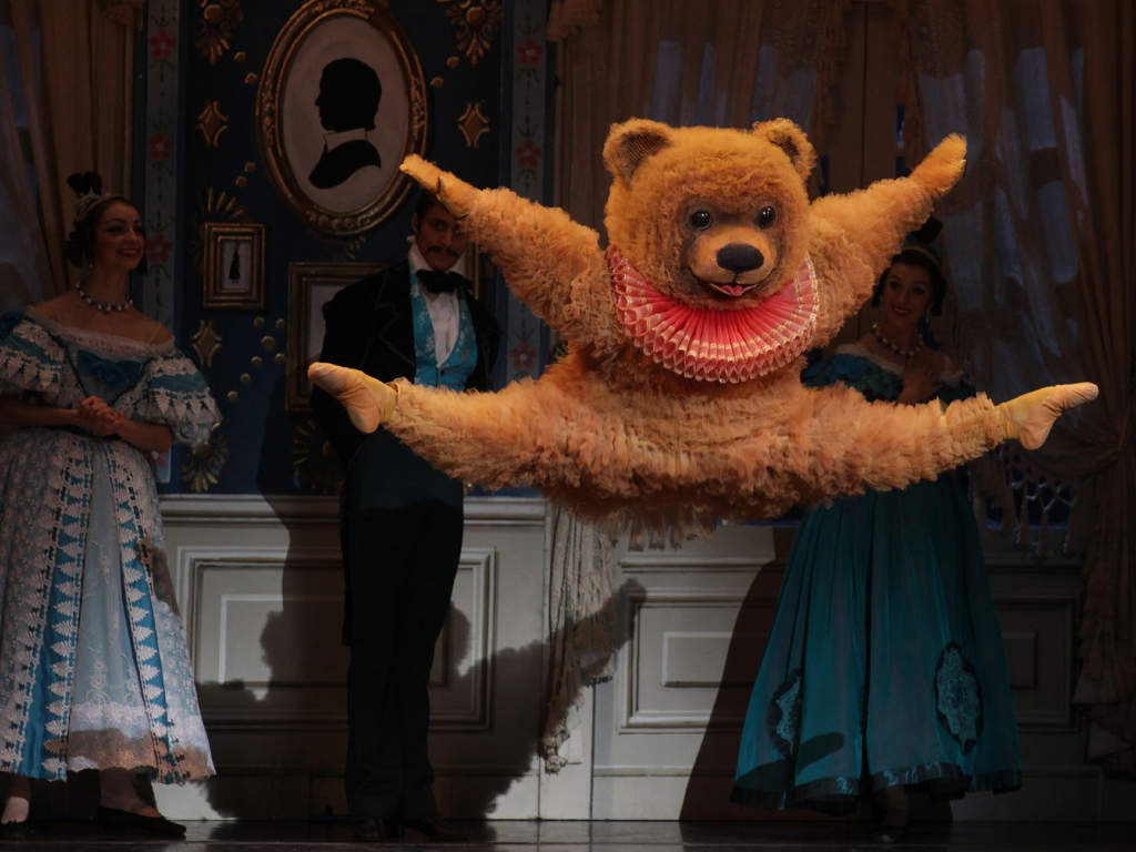The Bear in the Nutcracker Jumping