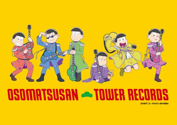 Osomatsu-san Posing with Tower Records