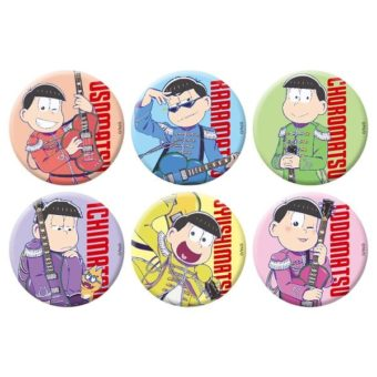 Osomatsu-san pins you can buy in the cafe