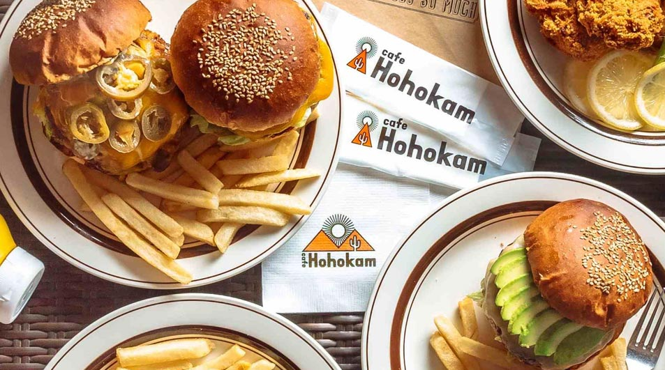 6. Avocado cheeseburger set with with a jalapeño burger set from Cafe Hohokam