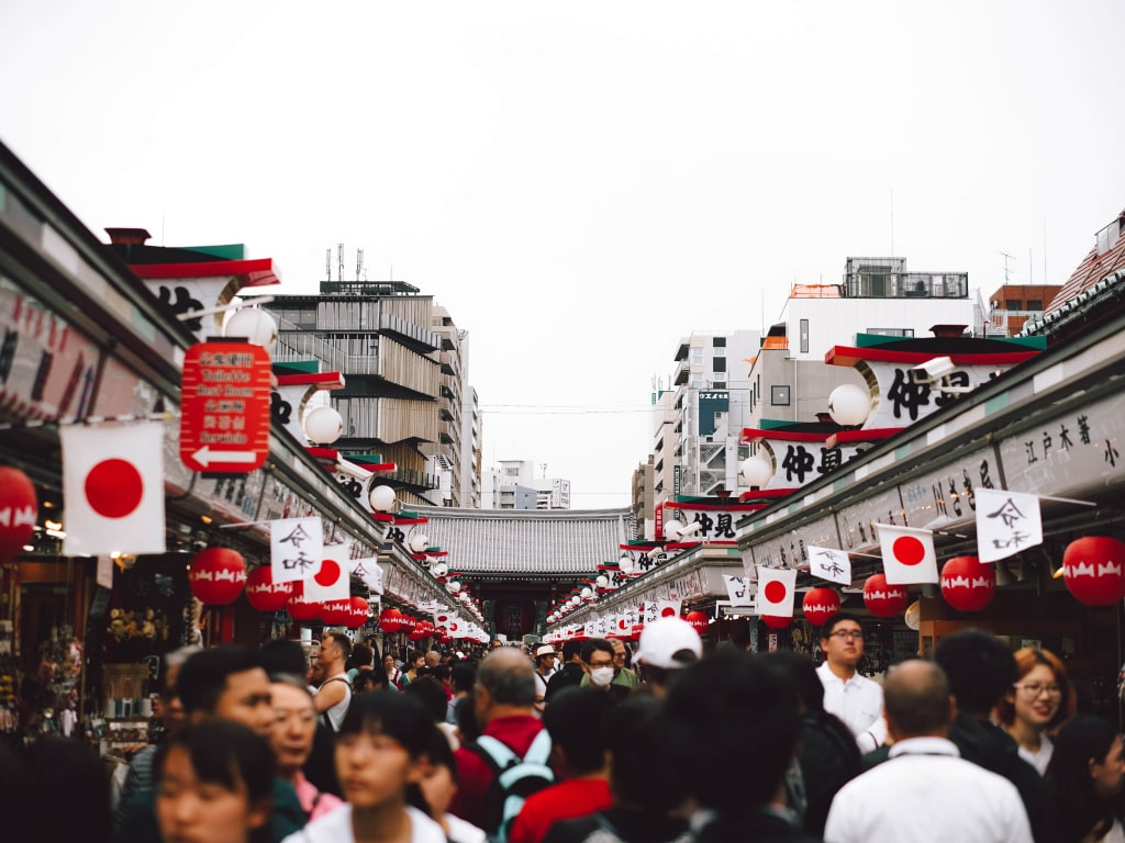 After moving to Japan, you'll see traditional temples and modern buildings together.