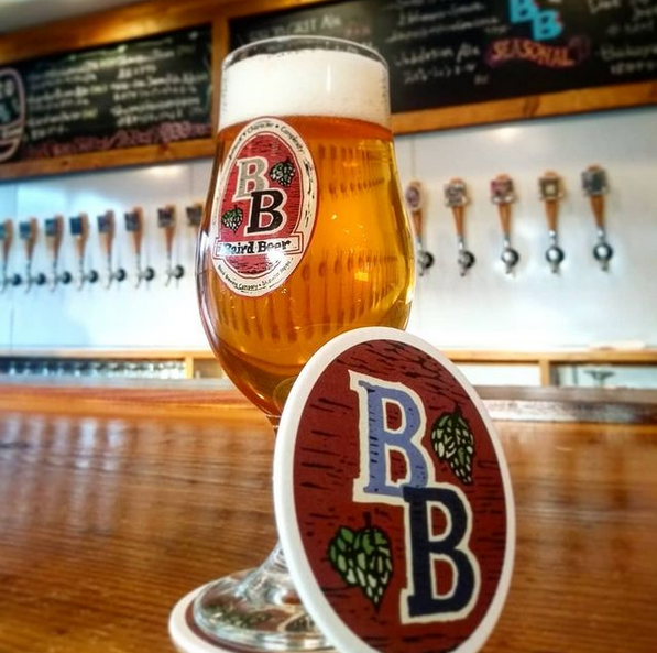 A glass of Baird beer in one of the company's taprooms.