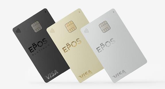 Regular, Gold, and Platinum EPOS cards.