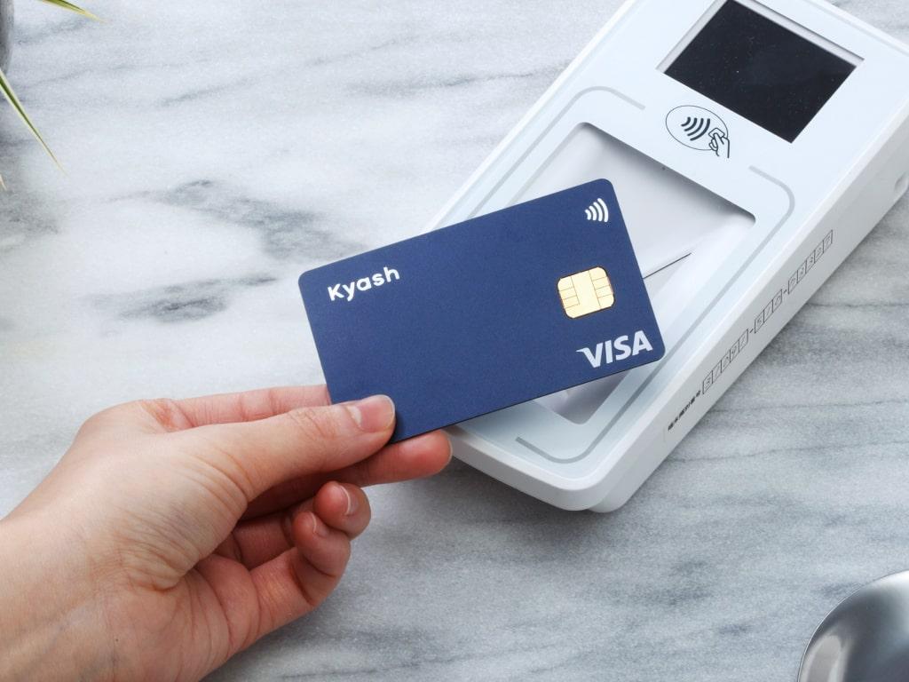 A kyash card, a credit card alternative
