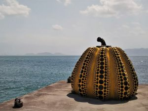 The pumpkin in Naoshima