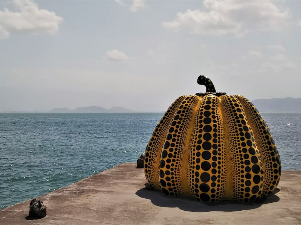 The pumpkin in Naoshima