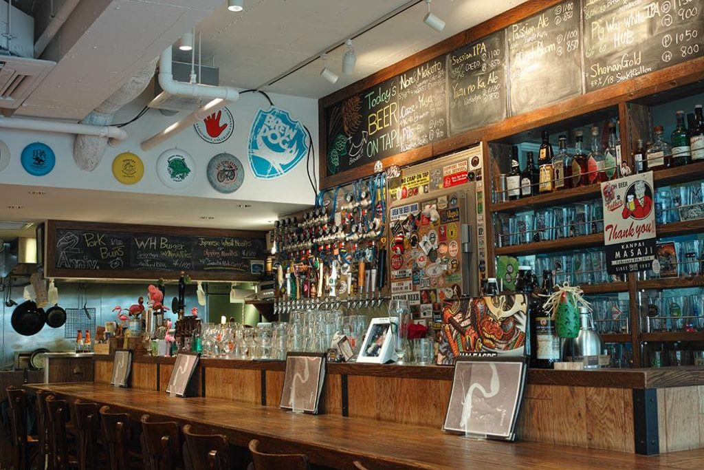 A view of Watering Hole's bar.