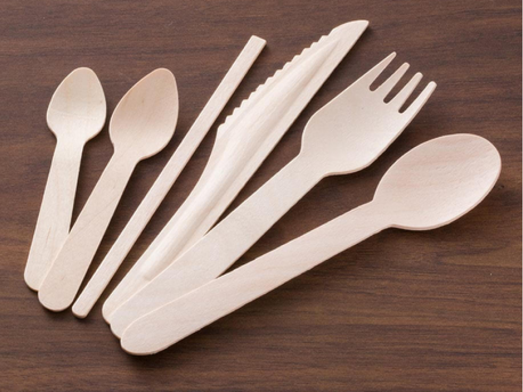 Image of Dinema utensils made of up-cycled materials