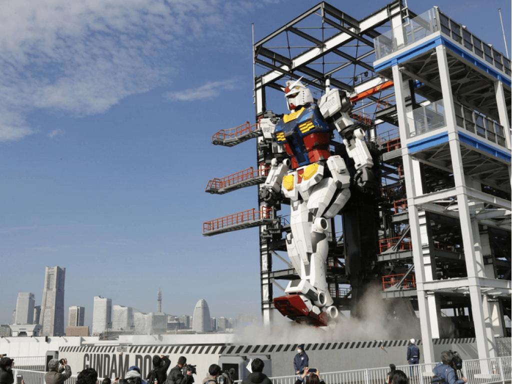 Walking Gundam in Yokohama